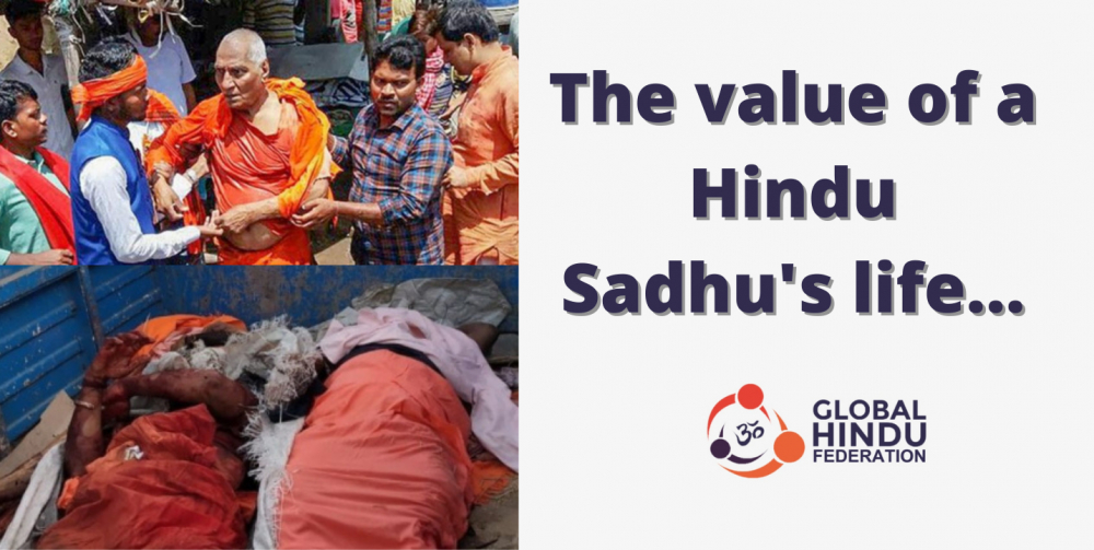 The Value of a Hindu Sadhu's Life in the Anti-Hindu Indian State